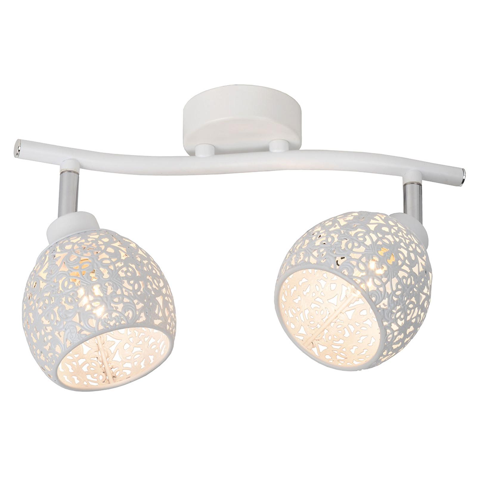 Plafonnier filigrane Tahar à deux lampes