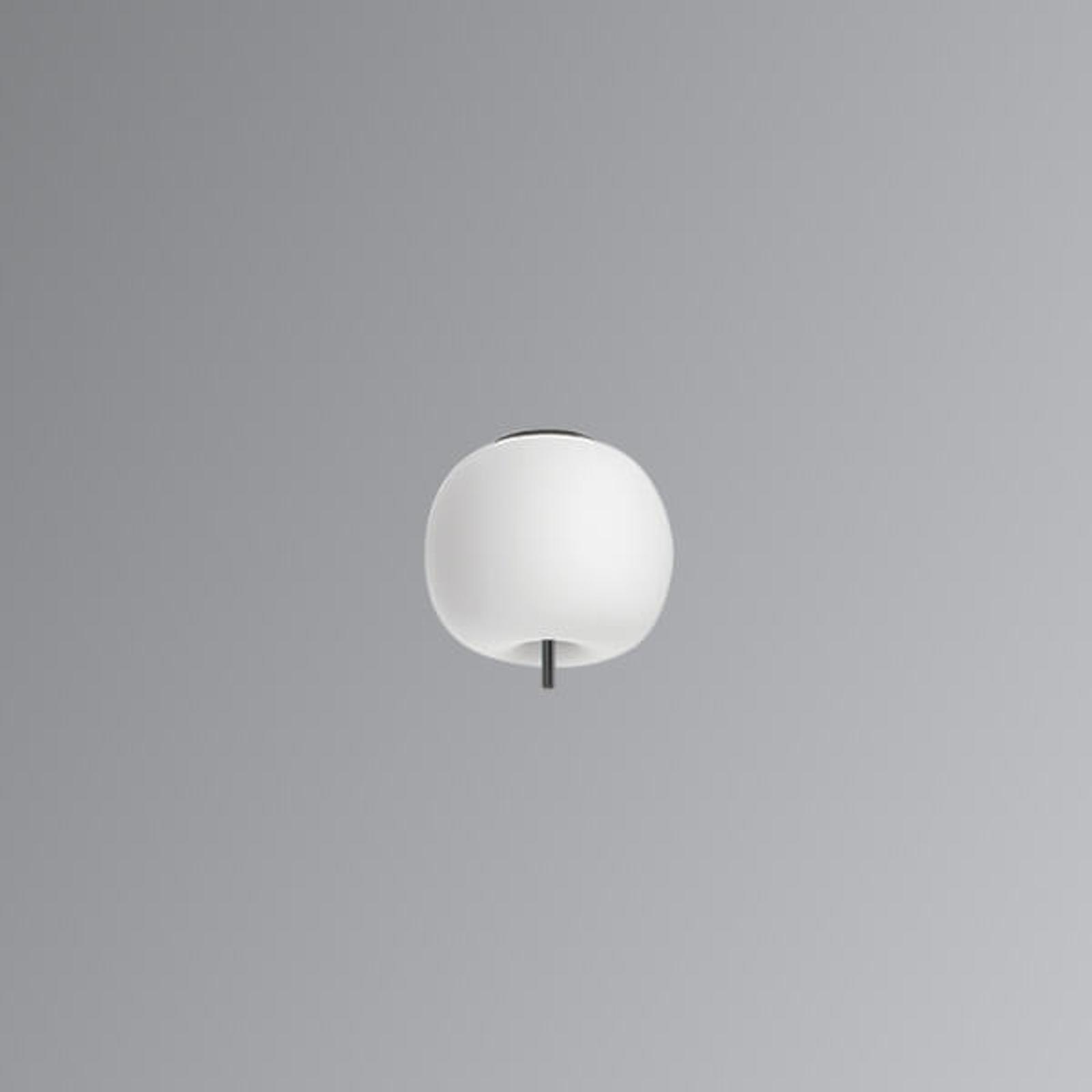 Kundalini Kushi - plafonnier LED noir 16 cm