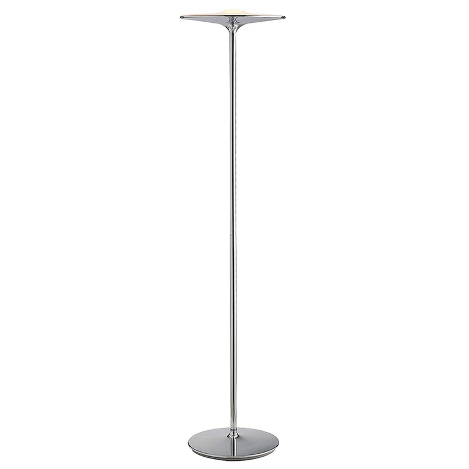 Lampa stojąca LED Ikon z wykończeniem chromowanym