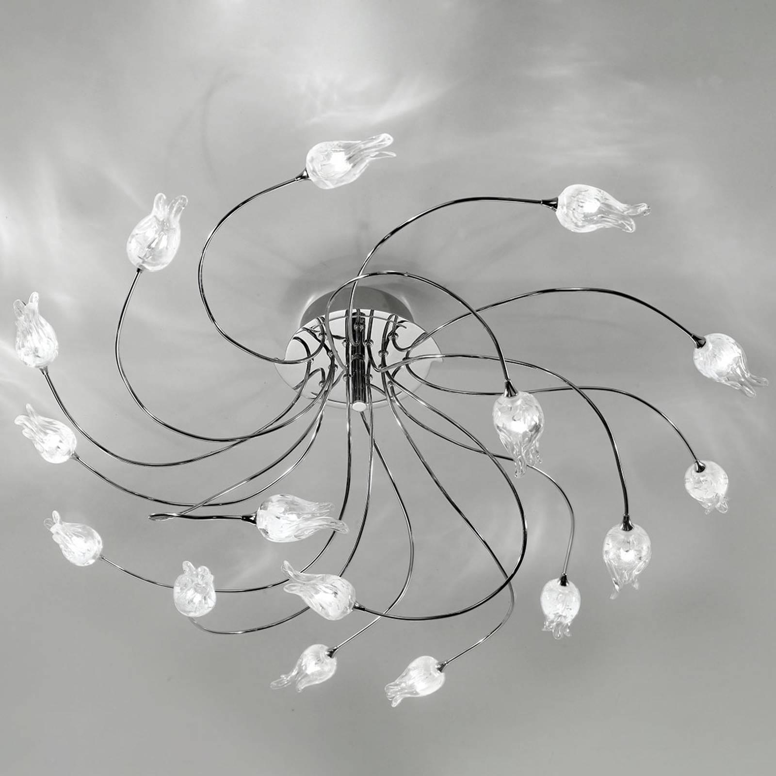 Lampa sufitowa 7132 chrom 16-punktowa