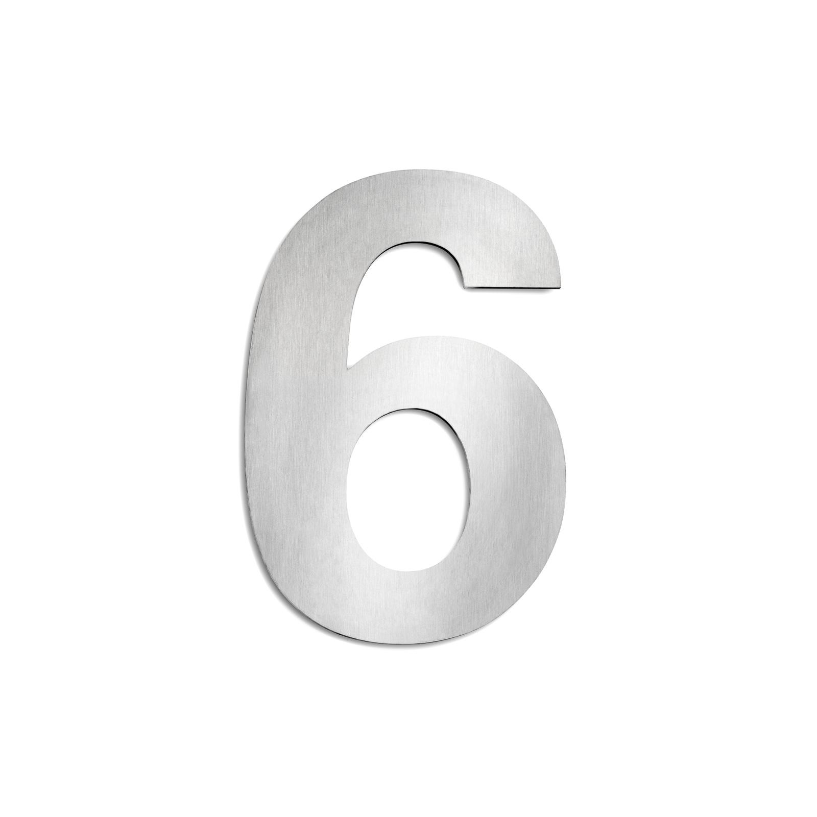 Domovní čísla z ušlechtilé oceli velikost 6