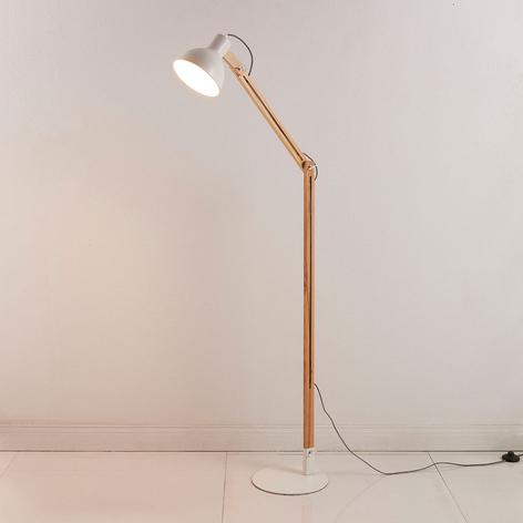 Shivanja - stojací lampa ze dřeva a kovu