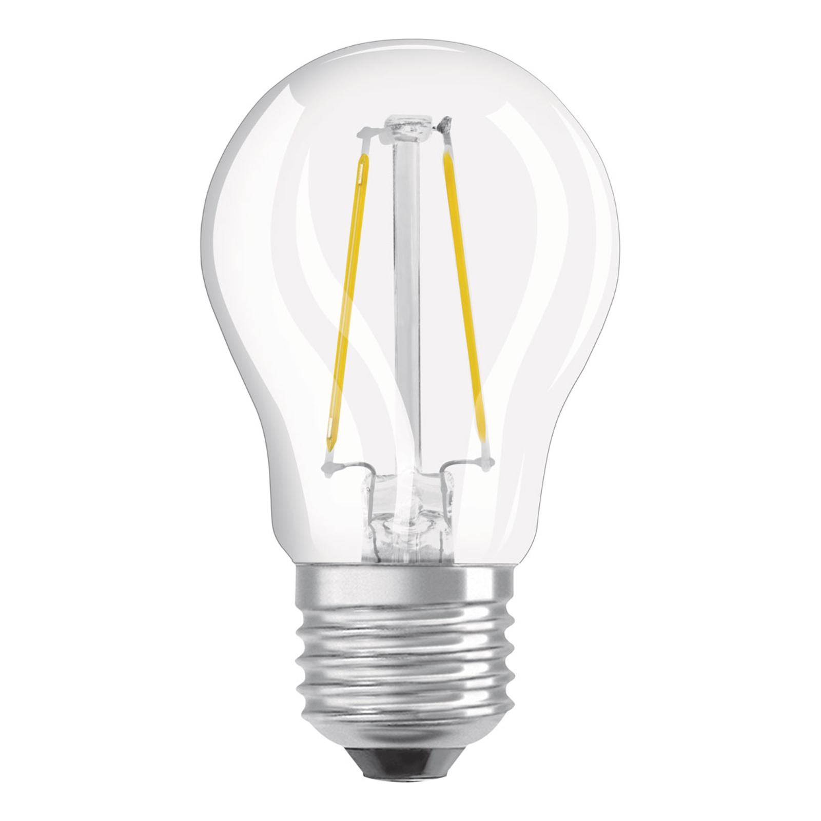 OSRAM LED E27 2,8W dimm bianco caldo trasparente