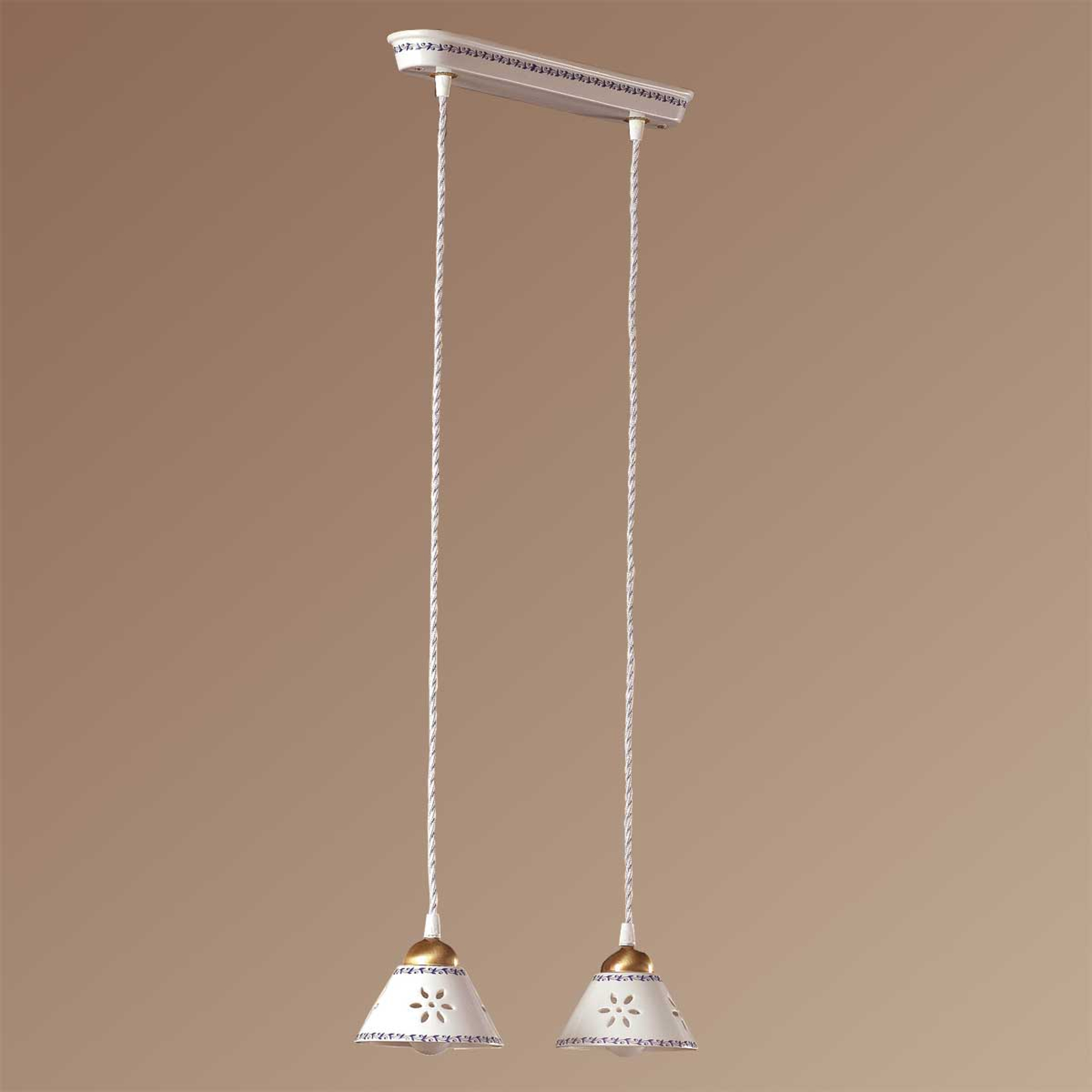 2-bulb NONNA hanging light, made of white ceramic_2013027_1