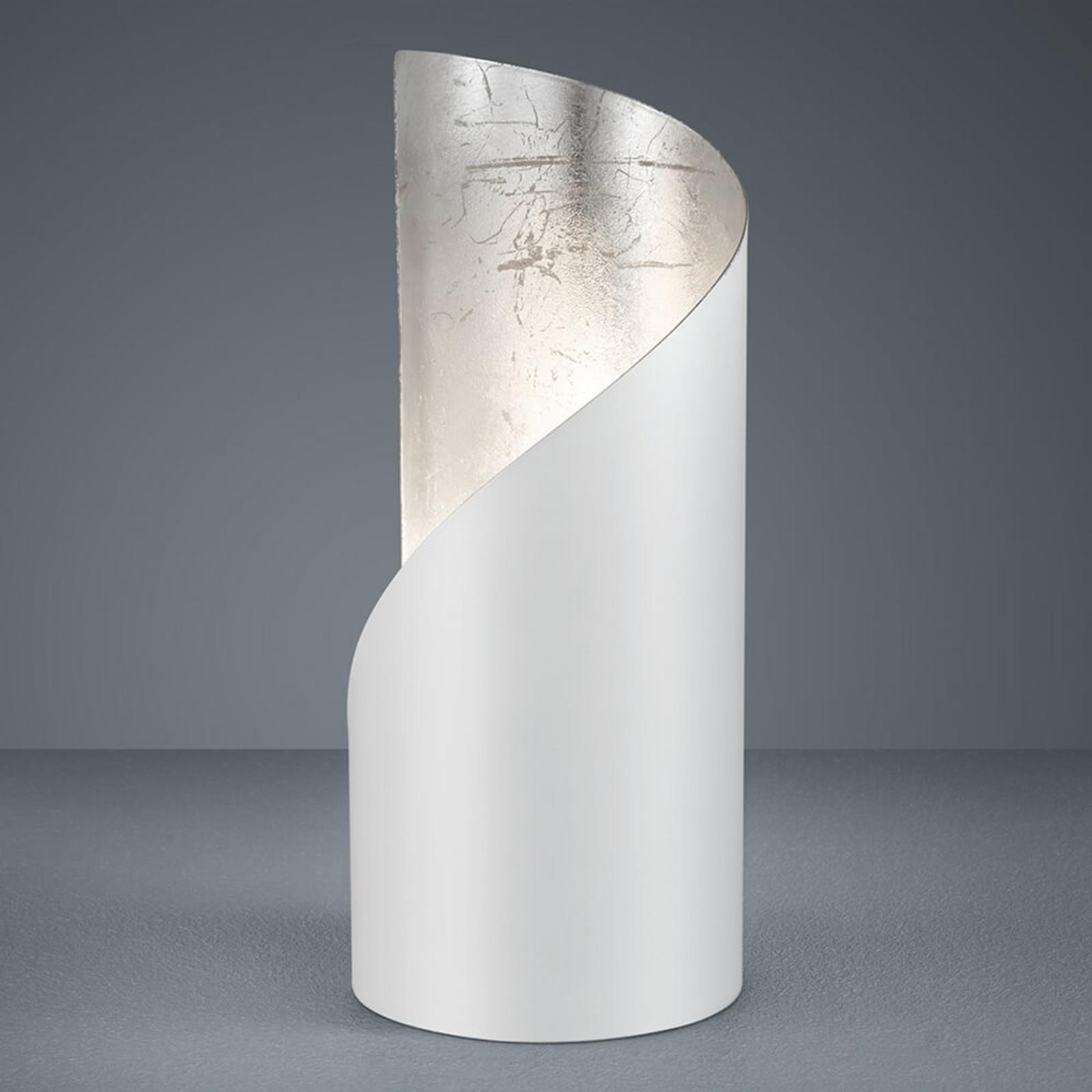 Tafellamp Frank - wit en zilver