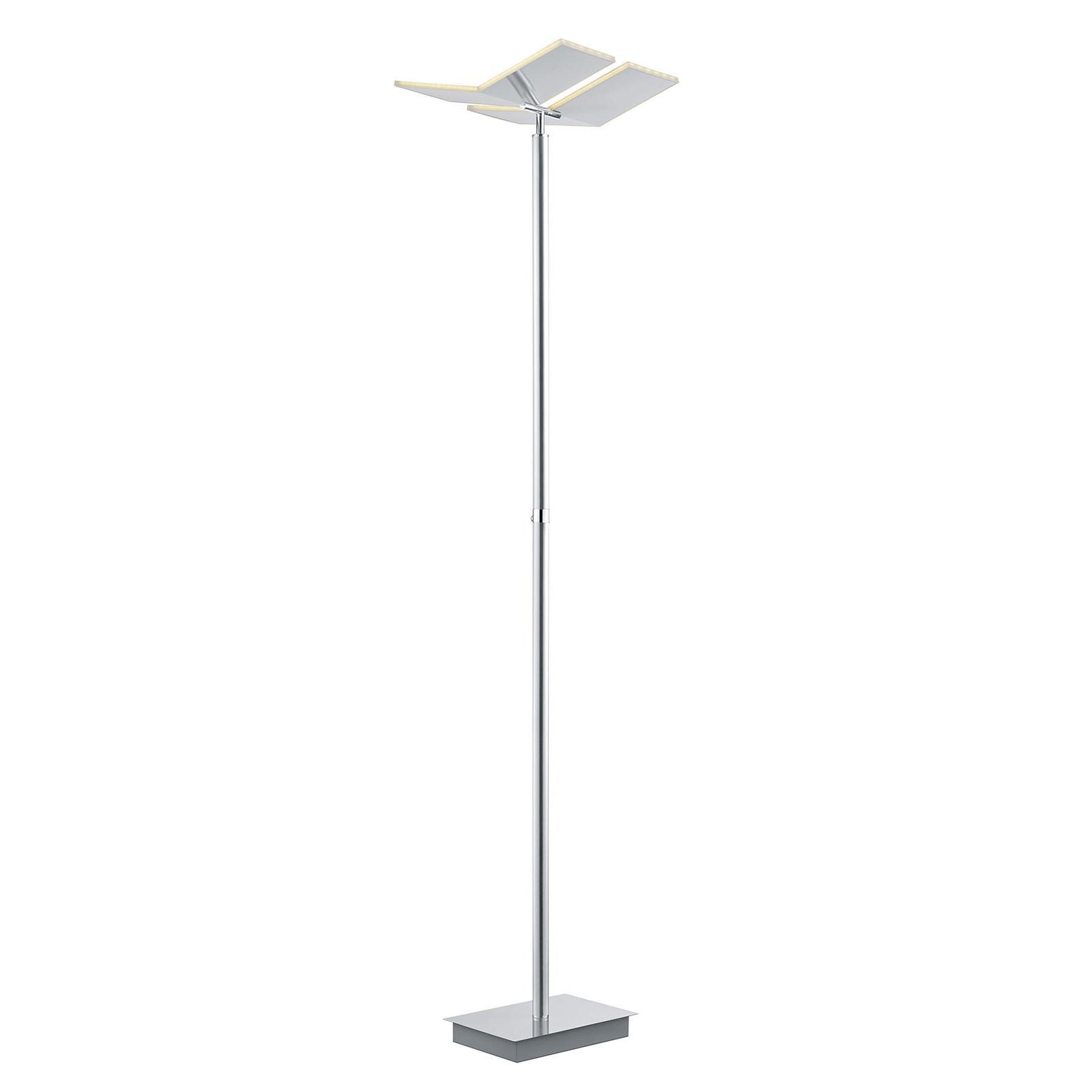 B-Leuchten Domi LED vloerlamp, nikkel