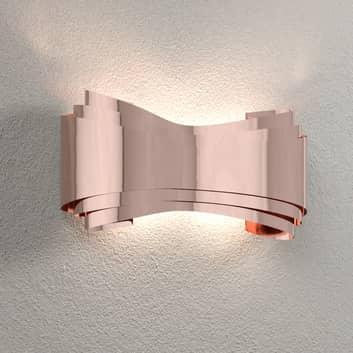 Ionica – miedziana designerska lampa ścienna LED