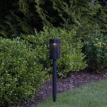 LED-solcellslampa Blace med långt markspett, 46 cm