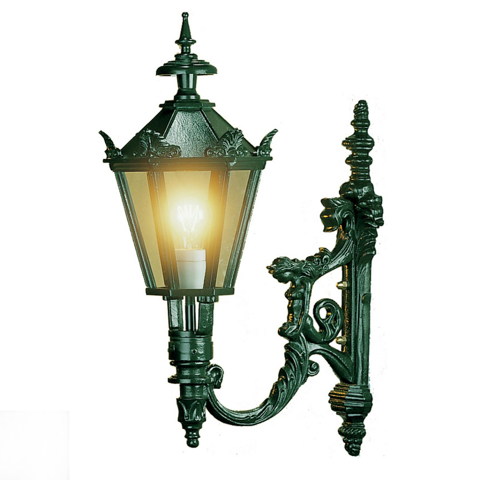 Stylowa zewnętrzna lampa ścienna Diana, zielona