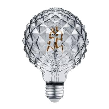 Bombilla LED globo E27 4W 3.000K textura humo