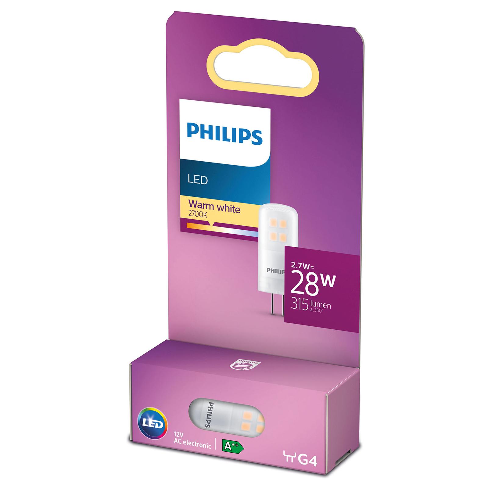 Philips LED bispina G4 2,7W 2.700K satinato