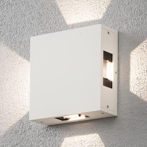 Cremona - LED-utomhusvägglampa, justerbar, vit