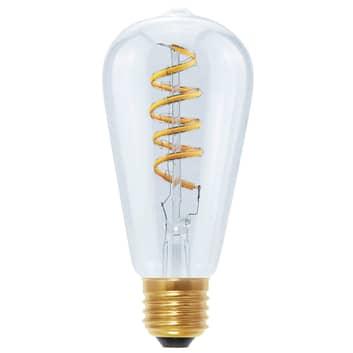 E27 6W 922 LED Rustika Curved Line transparente