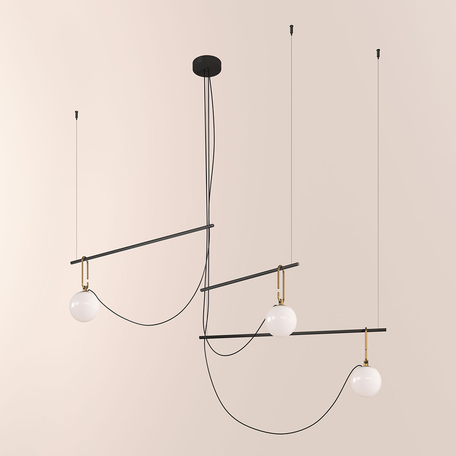 Artemide nh S3 14 suspension, 3lampes