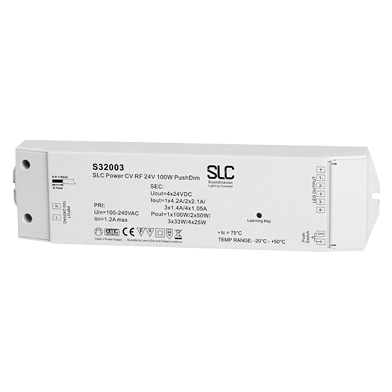 SLC Treiber PushDim/Funk, weiß und bunt, 24V, 100W