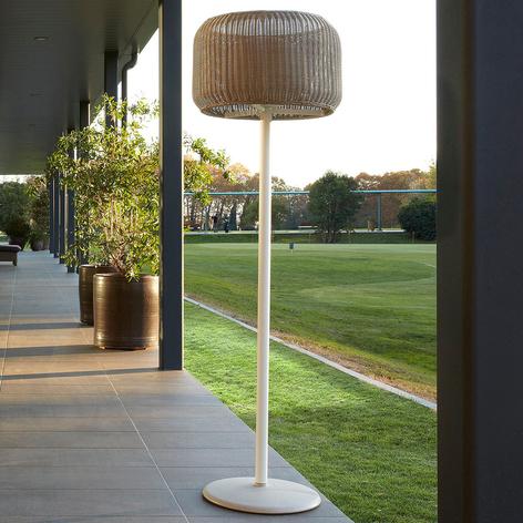 Bover Fora P - lampadaire d'extérieur, blanc-beige