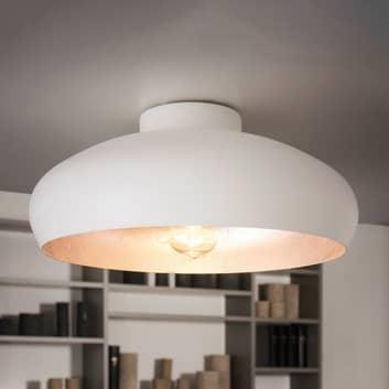 Lámpara de techo blanca y plateada Mogano