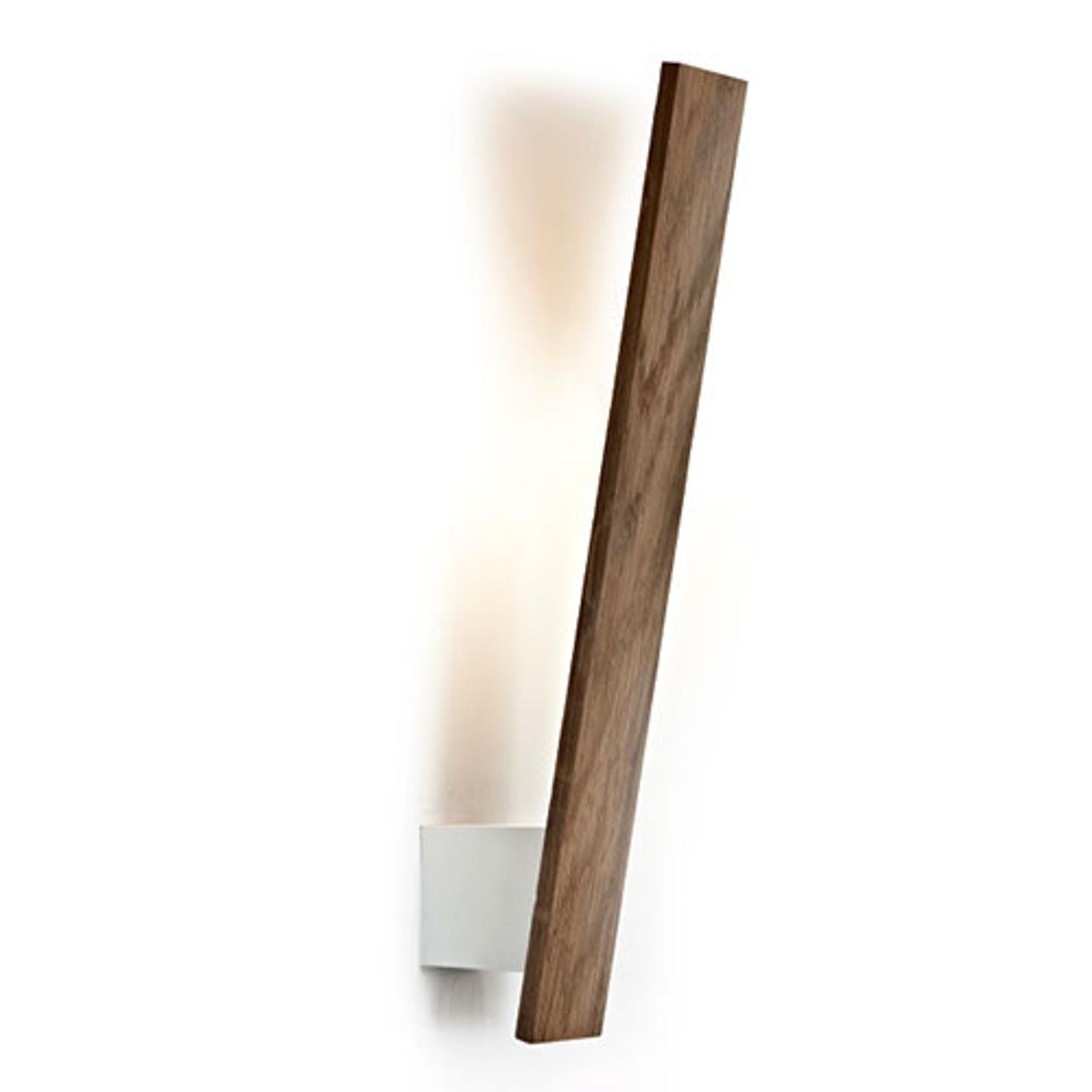 Flik - schlanke LED-Wandleuchte m. Holz