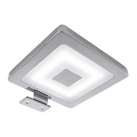 Eckige LED-Möbelanbauleuchte Spiegel