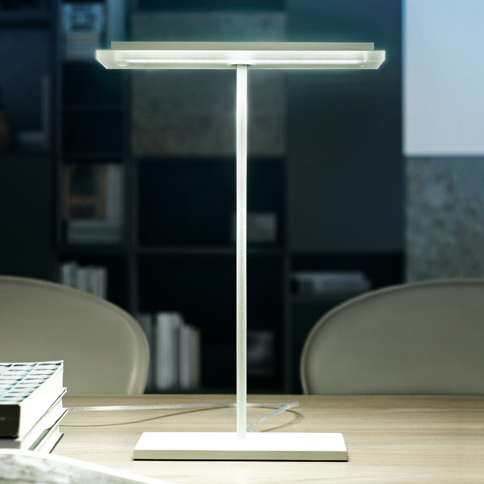 Platte LED tafellamp Dublight LED