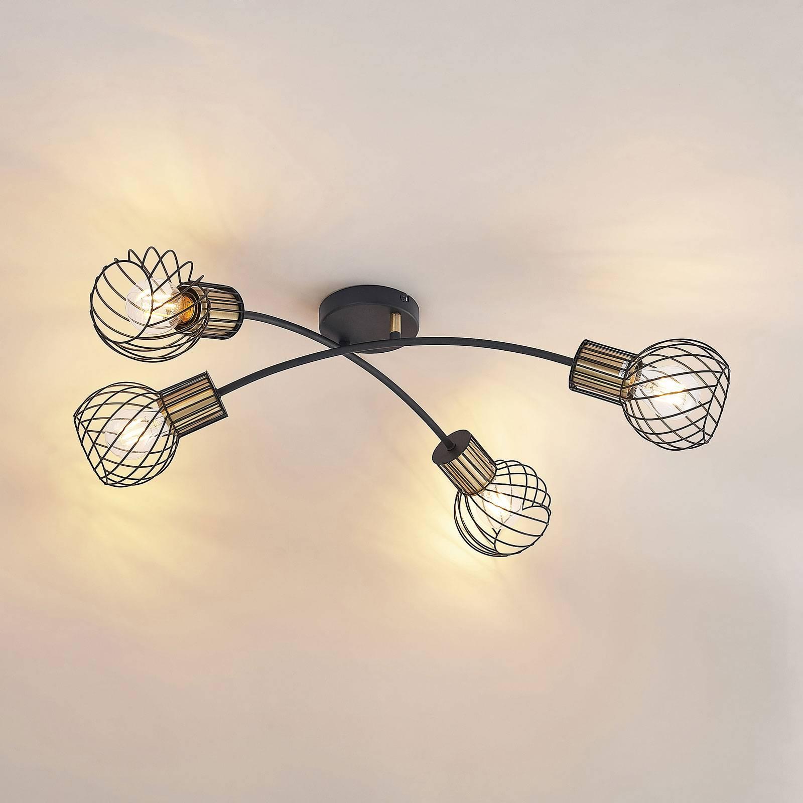 Lindby Cornel plafondlamp, 4-lamps