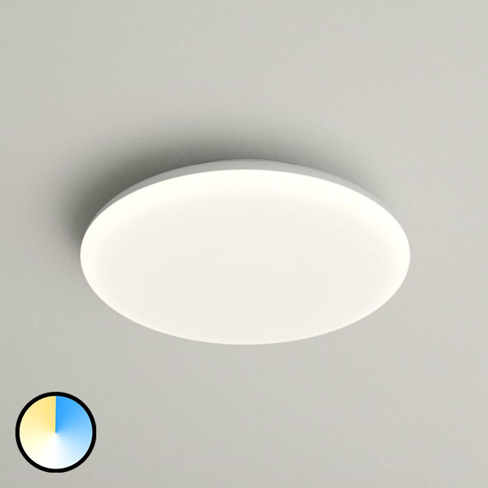 LED plafondlamp Azra, wit, rond, IP54, Ø 25 cm