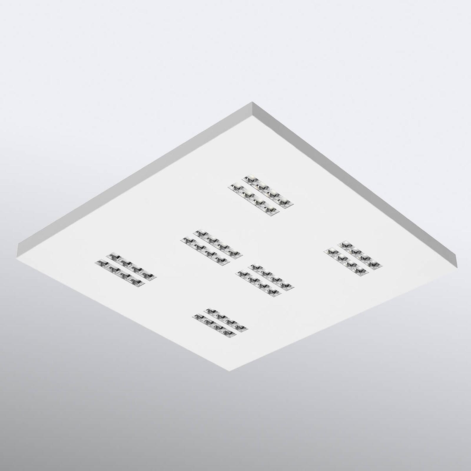 LED-taklampa Declan II SS1 kvadratiskt, 3000K