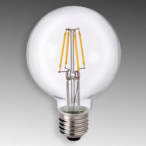 E27 6W 827 LED Globe G80, číra