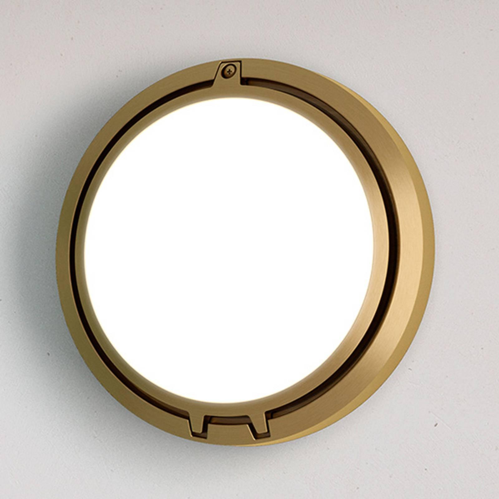 Luceplan Metropoli wandlamp brons glas 27 cm