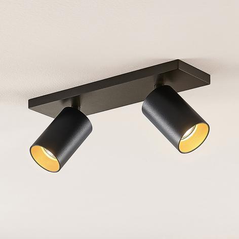 Spot Brinja, GU10, zwart, 2-lamp