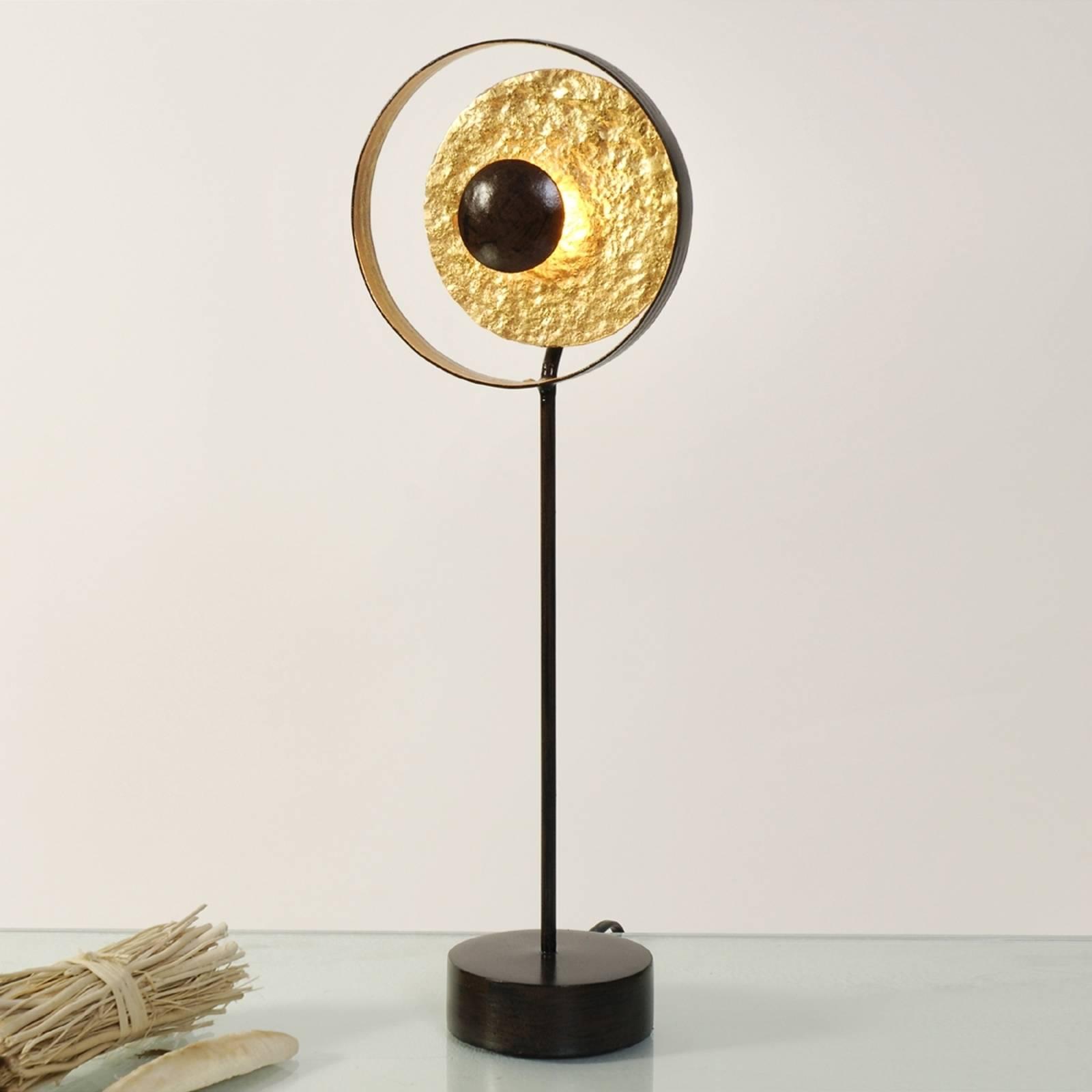 Goud-bruine tafellamp Satellite, 42 cm