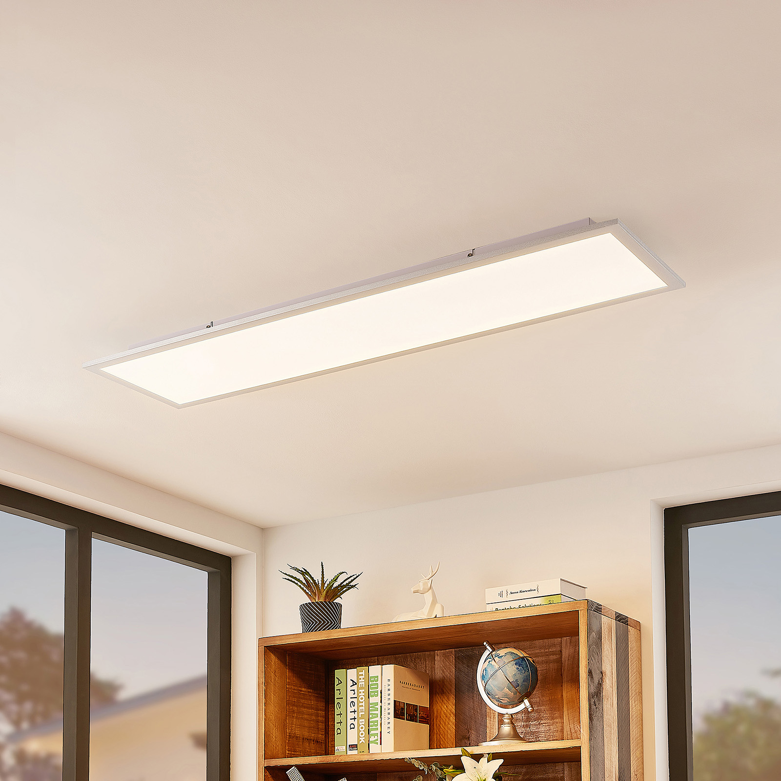 Lindby Kjetil LED-Deckenpanel 120 x 30 cm