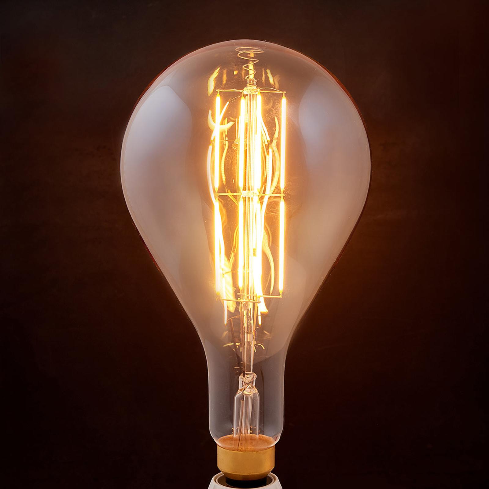 Lampadina LED a filamento E27 8W 1.900K pera ambra