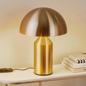 Oluce Atollo bordlampe, kan dæmpes, Ø 38 cm