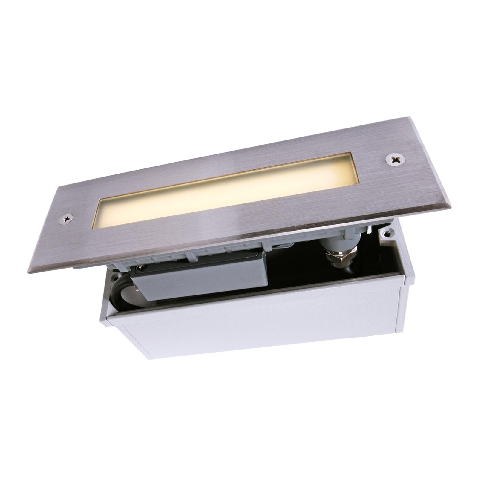 LED-golvinbyggnadslampa Line, längd 18,3 cm