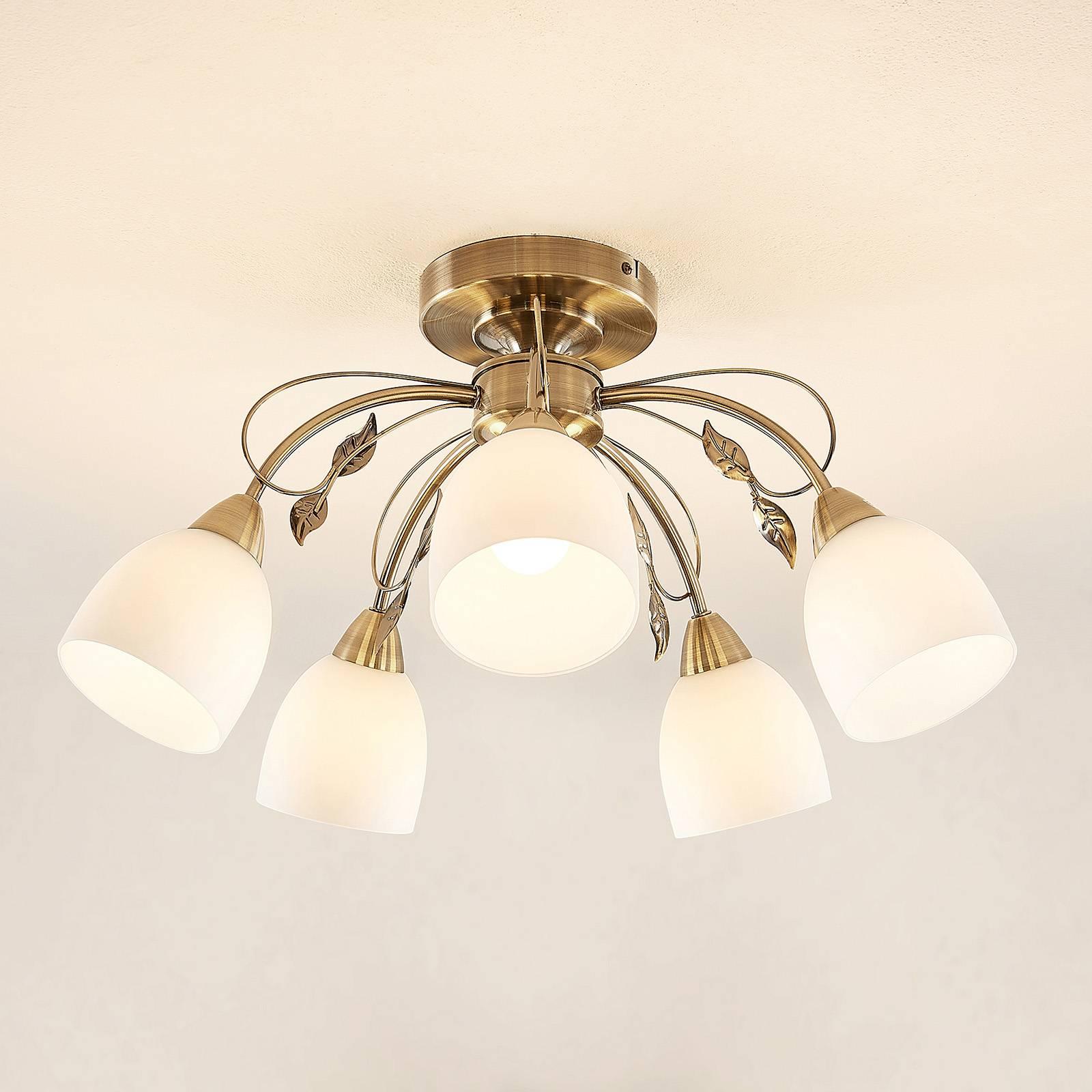 Lindby Thaddeus plafondlamp, 5-lamps, hoogte 31 cm