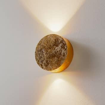 Escale Sunny - goldglänzende LED-Wandleuchte