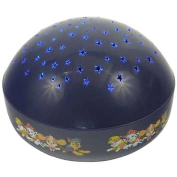 Lámpara nocturna de proyección LED Paw Patrol azul