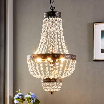 Fascinante lámpara colgante Jorve con cristal