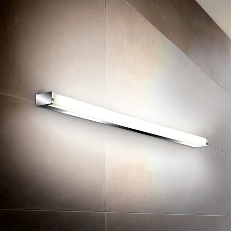 Linienförmige LED-Wandleuchte PARI, 60 cm, chrom