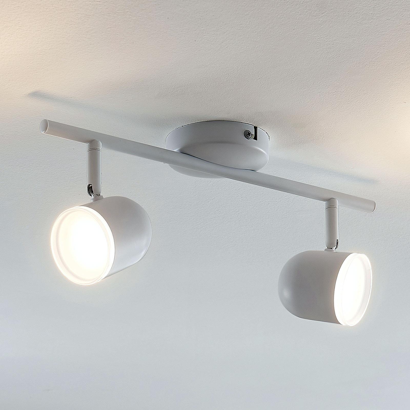 Lampa sufitowa LED Ilka z regulacją, biała, 2-pkt.