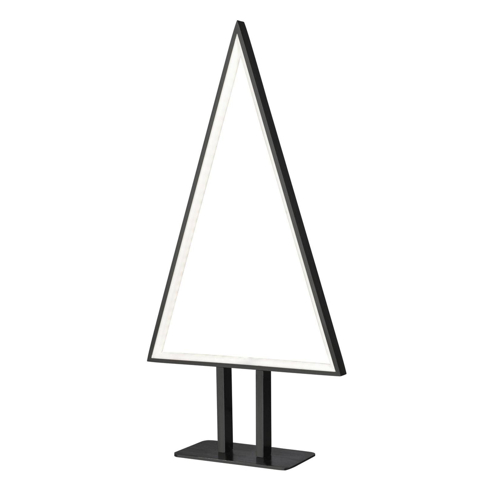 LED-dekorlampe Pine med ekstravagant design svart