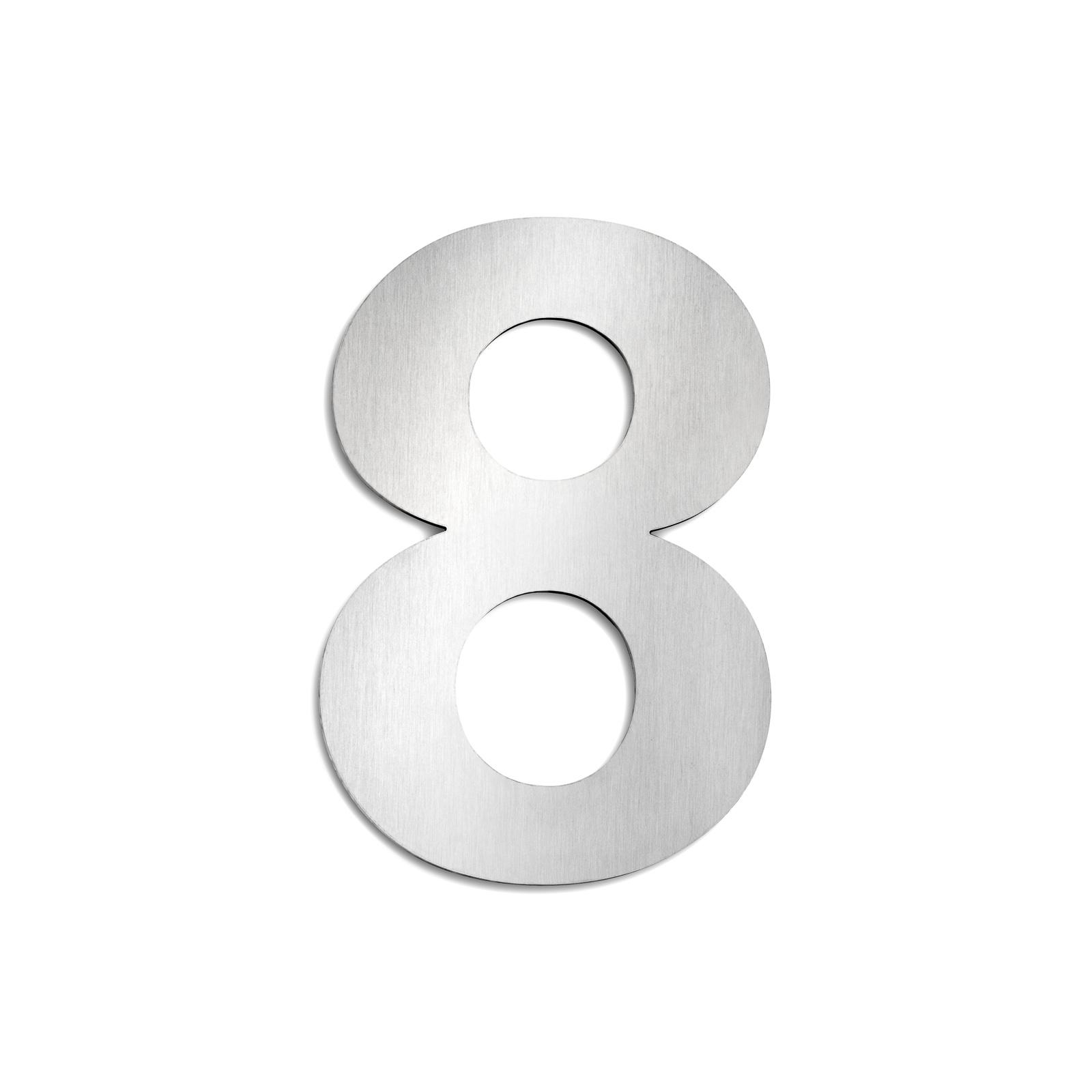 Domovní čísla z ušlechtilé oceli velikost 8