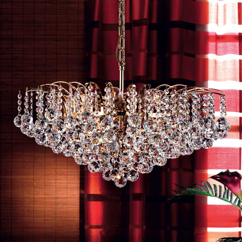 Lámpara colgante de cristal LENNARDA lujosa