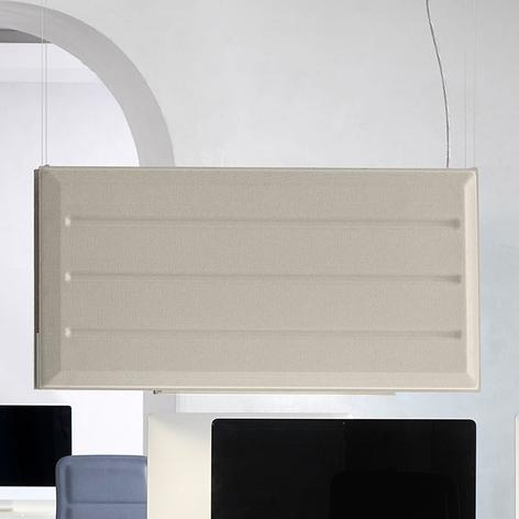 Luceplan Diade LED-hengelampe vertikal beige