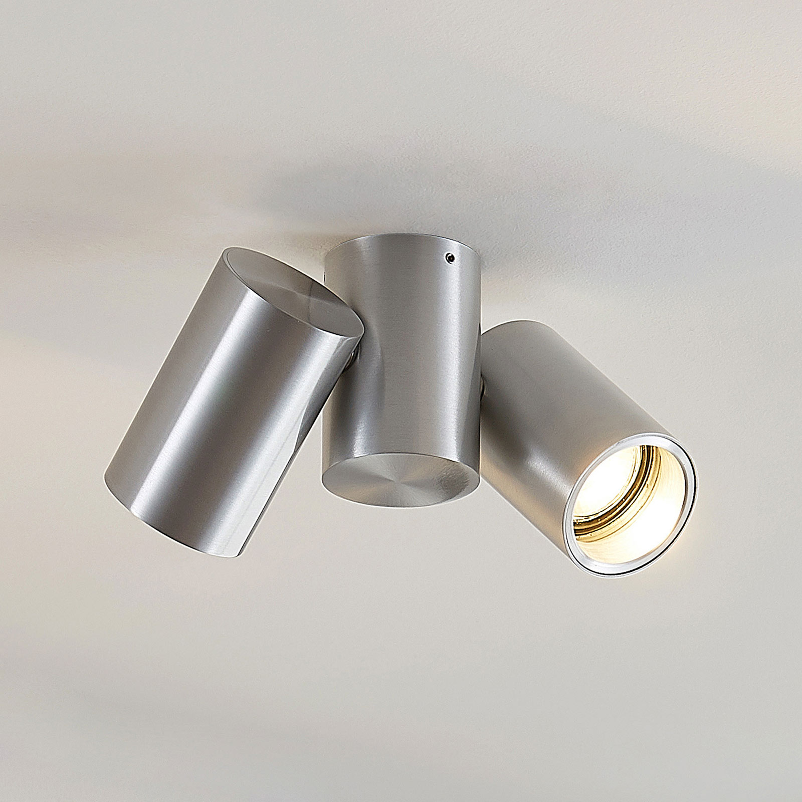 Loftlampe Gesina, to lyskilder, aluminium