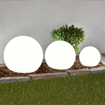 Set om 3 LED-solarlampor Lago, kulor