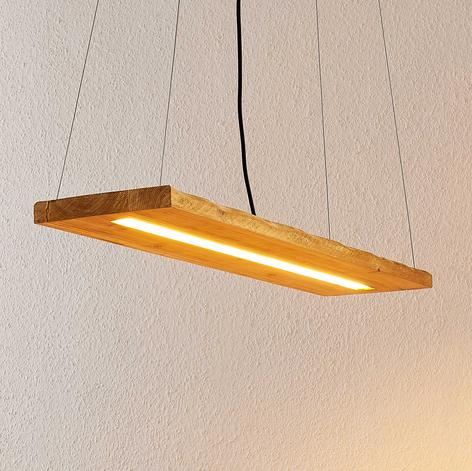 Lindby Nesaja drewniana lampa wisząca LED