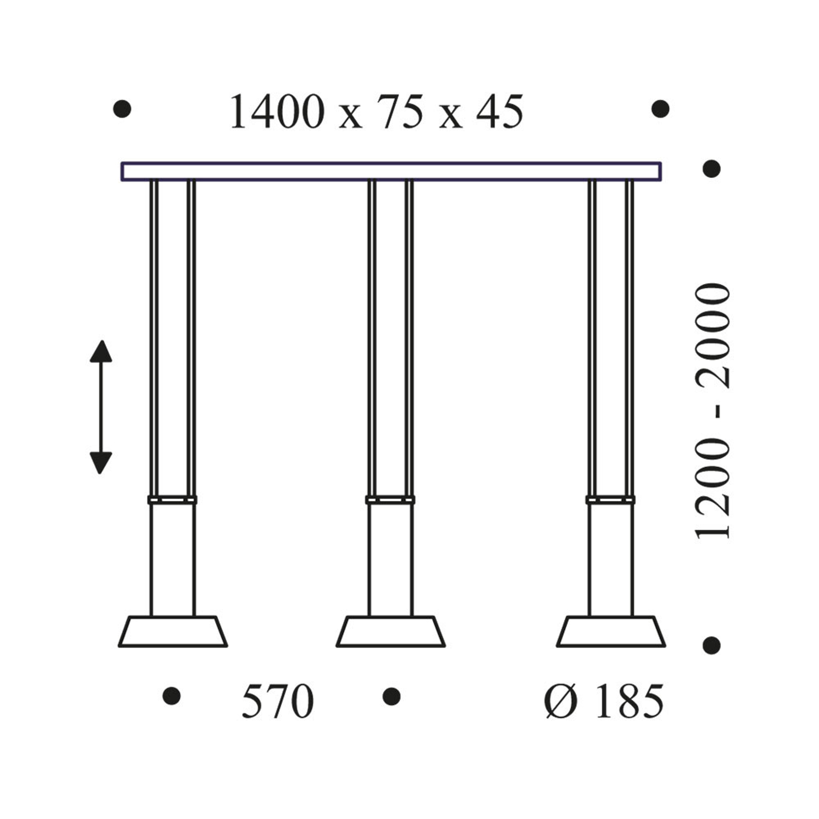 OLIGO Glance lampa wisząca LED 3-pkt. szara matowa