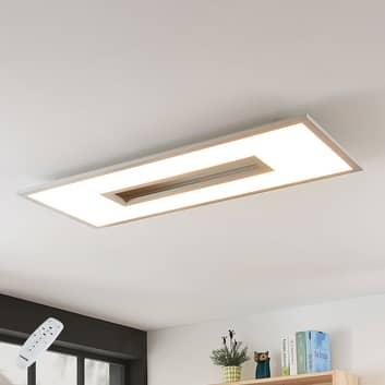 LED-loftlampe Durun, dæmpbar, CCT, kantet, 96cm